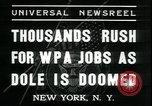 Image of unemployed men seek WPA relief jobs New York City USA, 1935, second 3 stock footage video 65675076839
