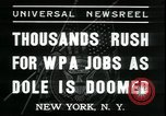 Image of unemployed men seek WPA relief jobs New York City USA, 1935, second 4 stock footage video 65675076839