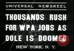 Image of unemployed men seek WPA relief jobs New York City USA, 1935, second 6 stock footage video 65675076839