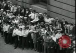 Image of unemployed men seek WPA relief jobs New York City USA, 1935, second 11 stock footage video 65675076839
