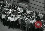 Image of unemployed men seek WPA relief jobs New York City USA, 1935, second 12 stock footage video 65675076839