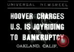 Image of Herbert Hoover addresses Americans during depression Oakland California USA, 1935, second 1 stock footage video 65675076840