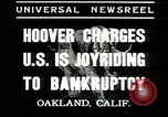 Image of Herbert Hoover addresses Americans during depression Oakland California USA, 1935, second 2 stock footage video 65675076840