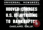 Image of Herbert Hoover addresses Americans during depression Oakland California USA, 1935, second 3 stock footage video 65675076840