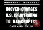 Image of Herbert Hoover addresses Americans during depression Oakland California USA, 1935, second 4 stock footage video 65675076840