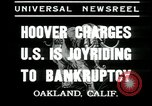 Image of Herbert Hoover addresses Americans during depression Oakland California USA, 1935, second 5 stock footage video 65675076840
