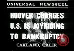 Image of Herbert Hoover addresses Americans during depression Oakland California USA, 1935, second 6 stock footage video 65675076840