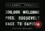 Image of Franklin Delano Roosevelt after reelection Washington DC USA, 1936, second 3 stock footage video 65675076843