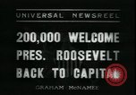 Image of Franklin Delano Roosevelt after reelection Washington DC USA, 1936, second 4 stock footage video 65675076843