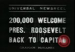 Image of Franklin Delano Roosevelt after reelection Washington DC USA, 1936, second 5 stock footage video 65675076843