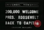 Image of Franklin Delano Roosevelt after reelection Washington DC USA, 1936, second 7 stock footage video 65675076843