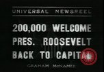 Image of Franklin Delano Roosevelt after reelection Washington DC USA, 1936, second 9 stock footage video 65675076843