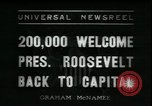 Image of Franklin Delano Roosevelt after reelection Washington DC USA, 1936, second 10 stock footage video 65675076843