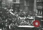 Image of Market panic crowd in front of New York Stock Exchange New York City USA, 1929, second 5 stock footage video 65675076849