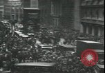 Image of Market panic crowd in front of New York Stock Exchange New York City USA, 1929, second 6 stock footage video 65675076849