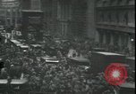 Image of Market panic crowd in front of New York Stock Exchange New York City USA, 1929, second 7 stock footage video 65675076849