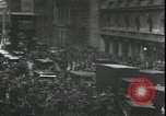 Image of Market panic crowd in front of New York Stock Exchange New York City USA, 1929, second 9 stock footage video 65675076849