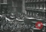 Image of Market panic crowd in front of New York Stock Exchange New York City USA, 1929, second 10 stock footage video 65675076849