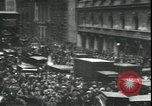Image of Market panic crowd in front of New York Stock Exchange New York City USA, 1929, second 11 stock footage video 65675076849