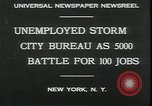 Image of unemployed apply for jobs in Great Depression New York City USA, 1930, second 2 stock footage video 65675076850