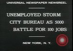 Image of unemployed apply for jobs in Great Depression New York City USA, 1930, second 3 stock footage video 65675076850