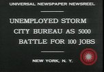 Image of unemployed apply for jobs in Great Depression New York City USA, 1930, second 4 stock footage video 65675076850