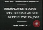Image of unemployed apply for jobs in Great Depression New York City USA, 1930, second 5 stock footage video 65675076850