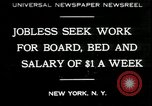 Image of unemployed in Great Depression seeking work New York City USA, 1930, second 1 stock footage video 65675076851