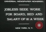 Image of unemployed in Great Depression seeking work New York City USA, 1930, second 2 stock footage video 65675076851