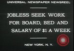 Image of unemployed in Great Depression seeking work New York City USA, 1930, second 3 stock footage video 65675076851