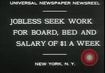 Image of unemployed in Great Depression seeking work New York City USA, 1930, second 4 stock footage video 65675076851