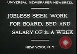 Image of unemployed in Great Depression seeking work New York City USA, 1930, second 5 stock footage video 65675076851