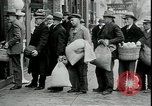 Image of American barber accepts vegetable barter for haircuts Sparta Michigan USA, 1930, second 10 stock footage video 65675076852
