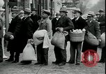 Image of American barber accepts vegetable barter for haircuts Sparta Michigan USA, 1930, second 12 stock footage video 65675076852