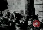 Image of unemployed receive apples during great depression New York City USA, 1930, second 4 stock footage video 65675076853