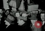 Image of unemployed receive apples during great depression New York City USA, 1930, second 6 stock footage video 65675076853