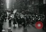 Image of protest against WPA layoffs during Depression New York City USA, 1937, second 9 stock footage video 65675076854