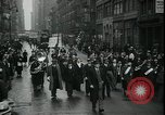 Image of protest against WPA layoffs during Depression New York City USA, 1937, second 10 stock footage video 65675076854