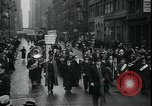 Image of protest against WPA layoffs during Depression New York City USA, 1937, second 11 stock footage video 65675076854