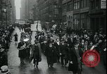 Image of protest against WPA layoffs during Depression New York City USA, 1937, second 12 stock footage video 65675076854