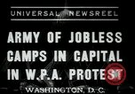 Image of Americans protesting WPA job reductions Washington DC USA, 1937, second 1 stock footage video 65675076855