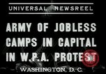 Image of Americans protesting WPA job reductions Washington DC USA, 1937, second 2 stock footage video 65675076855