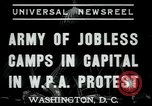 Image of Americans protesting WPA job reductions Washington DC USA, 1937, second 3 stock footage video 65675076855