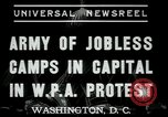 Image of Americans protesting WPA job reductions Washington DC USA, 1937, second 4 stock footage video 65675076855