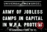 Image of Americans protesting WPA job reductions Washington DC USA, 1937, second 5 stock footage video 65675076855