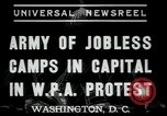 Image of Americans protesting WPA job reductions Washington DC USA, 1937, second 6 stock footage video 65675076855