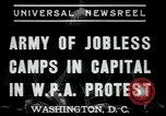 Image of Americans protesting WPA job reductions Washington DC USA, 1937, second 7 stock footage video 65675076855