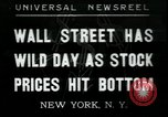 Image of 1937 selloff on stock exchange New York City USA, 1937, second 1 stock footage video 65675076857