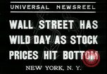 Image of 1937 selloff on stock exchange New York City USA, 1937, second 6 stock footage video 65675076857