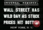 Image of 1937 selloff on stock exchange New York City USA, 1937, second 7 stock footage video 65675076857
